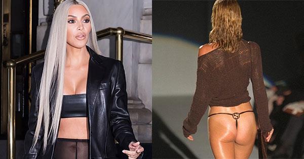 Kim Kardashian Gucci G String