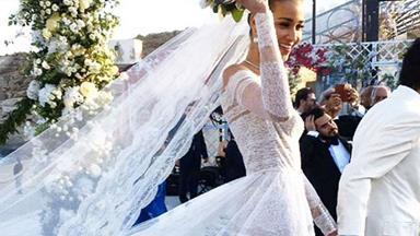The Most Iconic Supermodel Wedding Dresses
