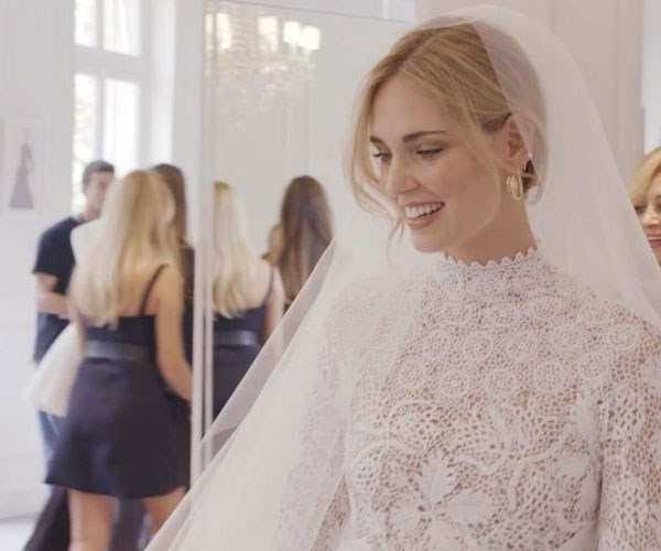 Chiara Ferragni Dior Wedding Dress Fitting