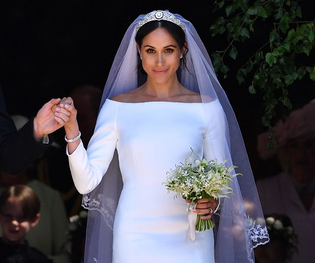 meghan markle wedding dress reaction