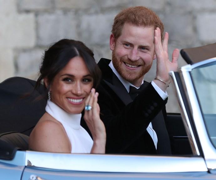 Meghan Markle Something Blue Wedding Dress