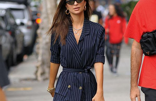 Emily Ratajkowski's Fashion Month Outfits