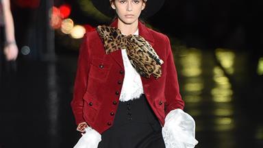 Saint Laurent's Paris Fashion Week Show Had Models Walking On Water