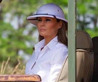 Melania Trump Controversial Pith Helmet