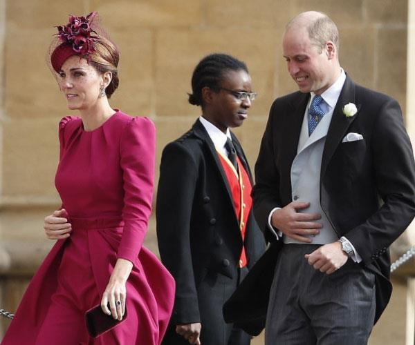 Kate Middleton at Princess Eugenie's royal wedding.