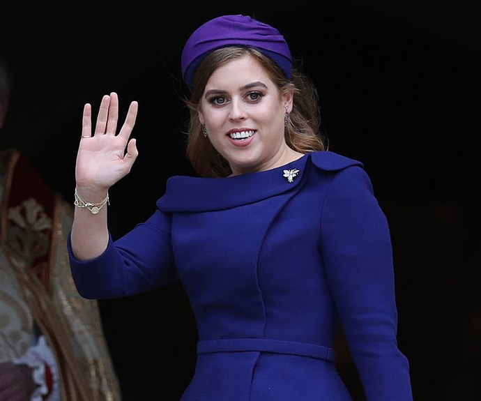Princess Beatrice at Princess Eugenie's wedding.