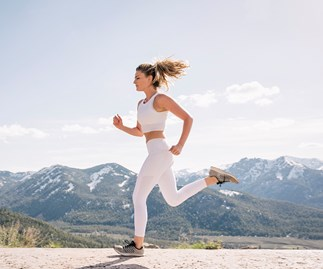 Woman running for fitness.