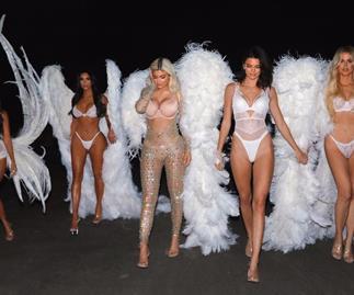 Kim Kardashian in lingerie.