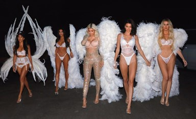 The Kardashian-Jenners Dress Up Like Victoria's Secret Angels For Halloween