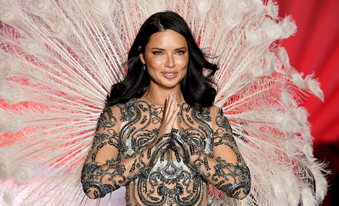 Adriana Lima crying.