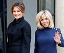 Melania Trump And Brigitte Macron Attend Remembrance Day Together