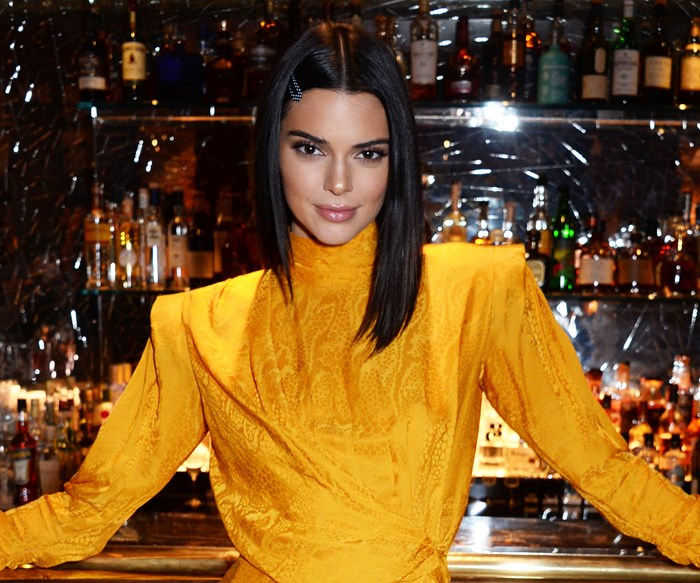 Kendall Jenner orange dress