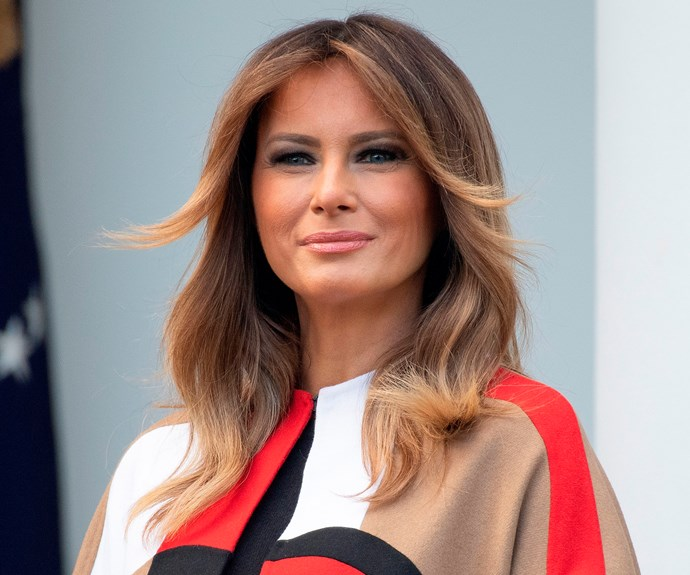 Melania Trump's Dior Coat Makes For One Of Her Boldest Outfits Yet