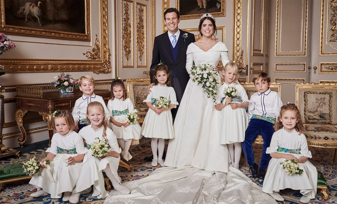 Princess Eugenie wedding portrait.