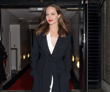 Angelina Jolie Opts For A Power Suit For Royal Meeting