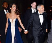 Amal Clooney Opts For Breezy Silk Gown For UN Awards