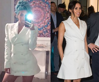 Kylie Jenner Copied Meghan Markle's Style In A Maggie Marilyn Dress On New Year's Eve