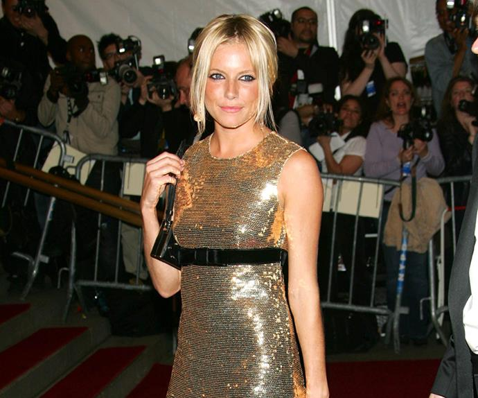 Sienna Miller at the 2006 Met Gala.