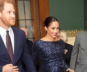 Meghan Markle Makes A Glamorous Appearance In Sequined Roland Mouret