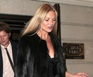 Kate Moss Celebrates Her 45th Birthday In A Tiny Black Mini-Dress