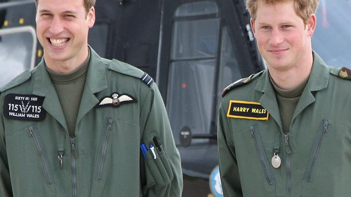 Prince Harry Prince William young
