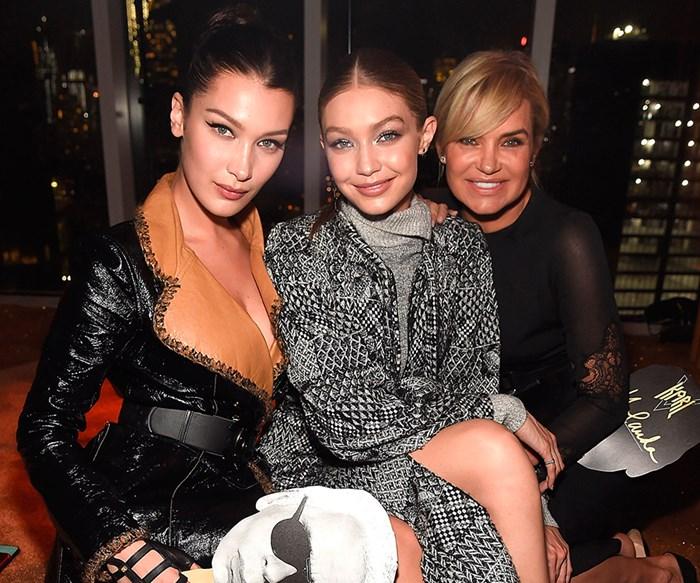 Yolanda, Gigi and Bella Hadid.