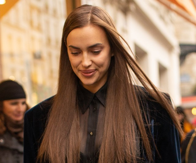 Irina Shayk Just Reinvented The Denim Short While Stepping Out In Paris