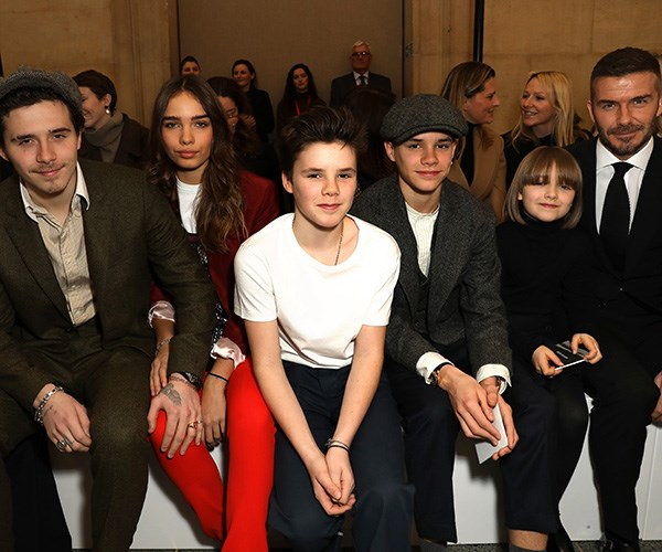 All The Times The Beckham Family Sat Front Row At Fashion Week