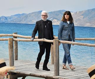 Karl Lagerfeld and Virginie Viard.