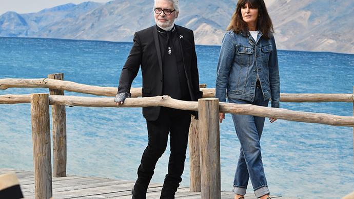 Karl Lagerfeld and Virginie Viard.