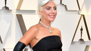 Lady Gaga Wears Custom Alexander McQueen To The 2019 Oscars