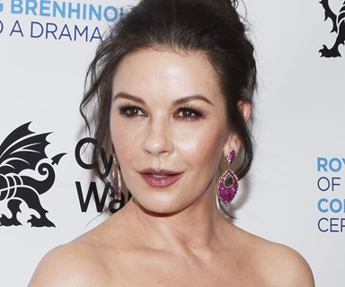 Catherine Zeta-Jones Wears Matching Gowns With Her Lookalike Daughter