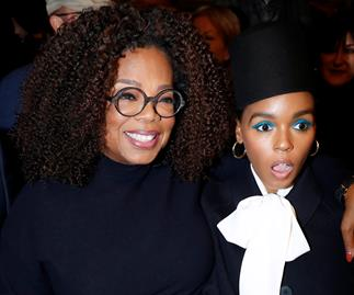 Oprah Winfrey Janelle Monae Paris Fashion Week