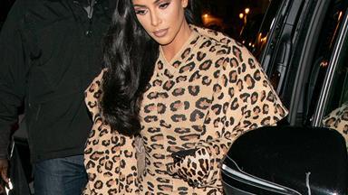 Kim Kardashian Wears Head-To-Toe Leopard Print In Paris