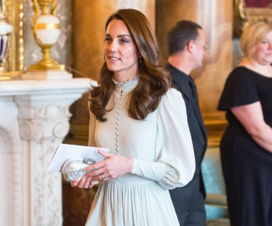 Kate Middleton And Meghan Markle Reunite For Buckingham Palace Reception