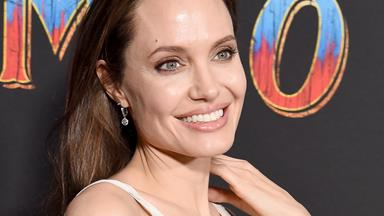 Angelina Jolie Wore An Atelier Versace Gown To The Premiere Of A Kids' Movie