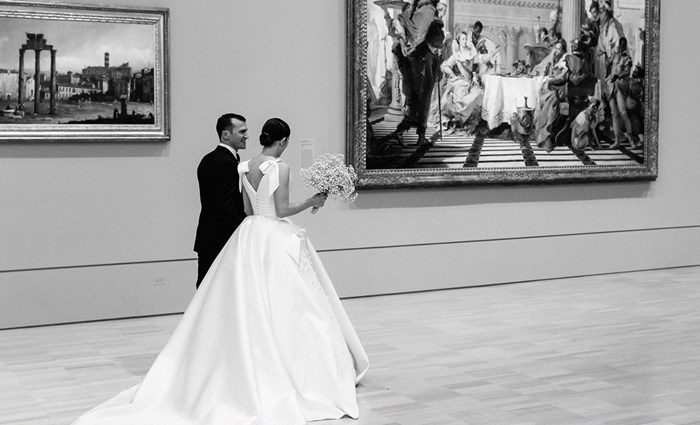 Real Bride: Maria Teresa And Mario's Romantic Wedding Within The National Gallery Of Victoria