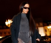 Kim Kardashian Heads Out To Dinner In A Skintight, Completely See-Through Catsuit