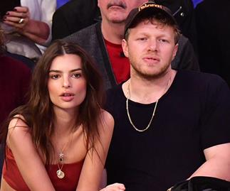 Emily Ratajkowski Wears Barely There Co-Ord Set To Sit Courtside With Husband Sebastian Bear-McClard