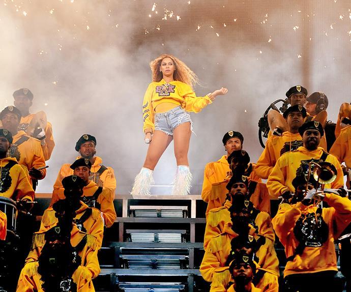 Beyonce at Coachella 2018.