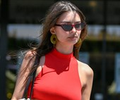 Emily Ratajkowski Puts Her Own Spin On The Bike Shorts Trend