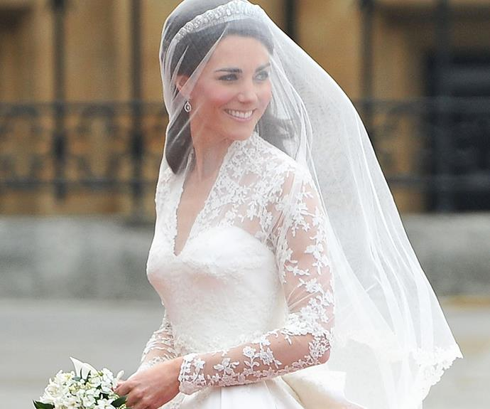 Kate Middleton on her wedding day.