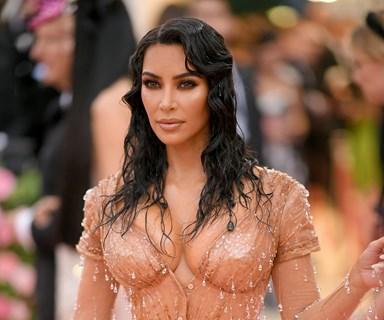 Kim Kardashian Hit the Met Gala Red Carpet In A Wet-Look 'Naked' Dress