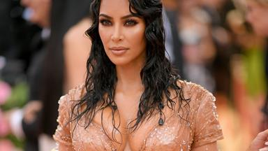 Kim Kardashian Hit the Met Gala Red Carpet In A Wet-Look 'Naked' Dress