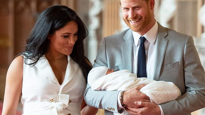 Meghan Markle, Prince Harry and Master Archie.