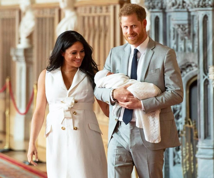 Meghan Markle and Prince Harry and son Archie.