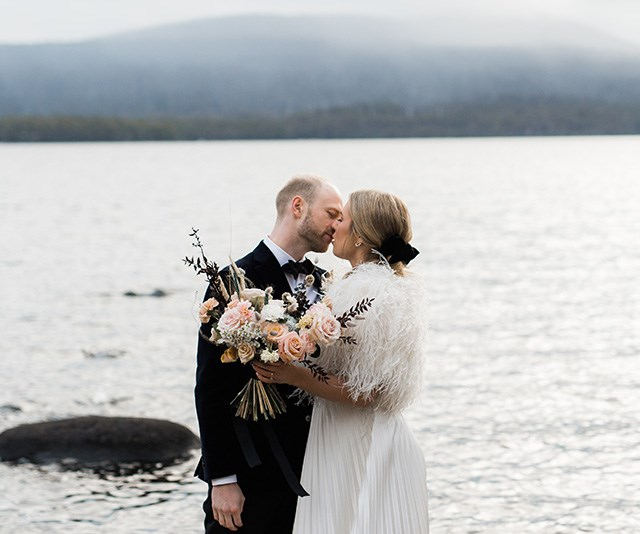 Real Bride: Kristie And Tim's Moody Winter Wedding In Tasmania