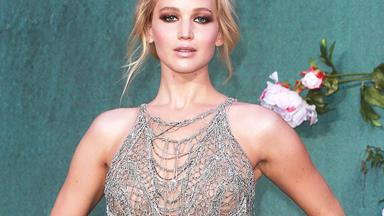 Jennifer Lawrence Wore The Most Heavenly Pink Wedding Dress To Her Engagement Party