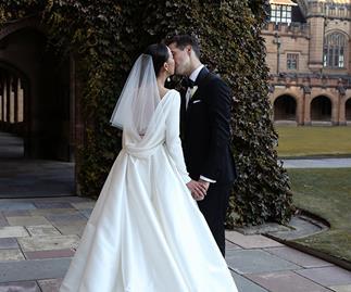 Real Bride: Stephanie and Domenic's Gothic, Romantic University Wedding
