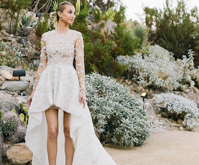 14 Celebrities Who Wore Super Short Dresses To Their Wedding
